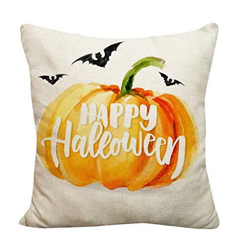 DQANIU- 💕Festival Dekor, Halloween Kürbis Dekokissen Kissenbezüge Dekorative Sofa/Auto/Cafe Kissenbezug, 9 Stile, 45cm x 45cm