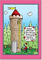 ラプンツェルエレベータValentine 's Day Funnyカード 1 Valentine's Day Card & Envelope (SKU:2432)