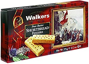 Walkers Shortbread Fingers, Traditional Pure Butter Shortbread Cookies, 13.2 Ounce (Pack of 1)