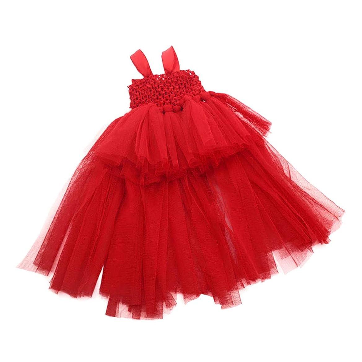 モットー疑い者事実コットン製 人形服 きせかえ ドレス ワンピース 18インチのドール用 バスト約30cm レッド
