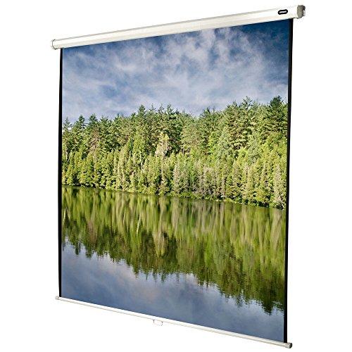 celexon manuell ausziehbare Heimkino- und Business-Beamer-Leinwand 4K und Full-HD Rollo-Leinwand Economy - 120x120cm - 67