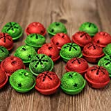 ToBeIT 30 Pieces Jingle Bells with Snowflake Cutout 1.6 Inch/ 40 mm Christmas Craft Bells ...