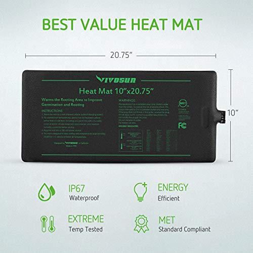 VIVOSUN Heat Mat and Digital Thermostat