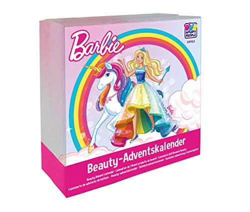 Happy People 52053 Barbie Beauty Adventskalender, Mehrfarbig