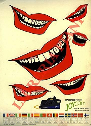Labbra con denti. Joycam. Polaroid instant.