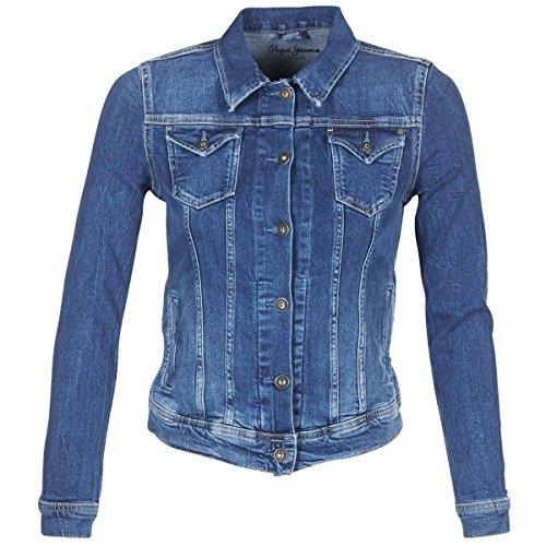 Pepe Jeans Veste Thrift CF7 Denim Femme S Bleu