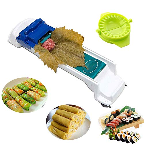 EBINGMIMA Dolma Sarma Sushi Rolling Machine Vegetable Meat Sushi Rolling Tool Dolma Roller Magic Stuffed Leaves Grape Cabbage with Dumpling Maker Tool Gifts Mother's Day