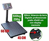 Givimusic Bilancia da Terra BILICO Industriale Digitale Professionale 500KG Display LCD
