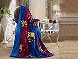 FCBarcelona Silk Touch Sherpa Lined Throw Blanket 50x60