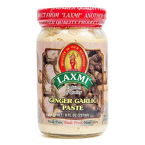 Laxmi Brand Traditional Indian Ginger and Garlic Cooking Paste Indian Food Staple Made Pure Made Fresh Tradition of Quality Product of India 8oz