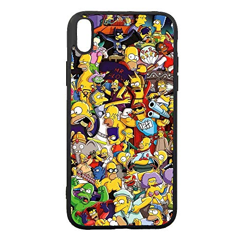 JNKPOAI XR Phone Case The Simpsons Anime Custom Fall Proof and Shockproof TPU Full Protection iPhone XR Case(6.1 Inch) (The Simpsons)