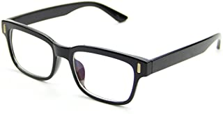 Cyxus Plain Vintage Eyewear Designer Frame for Men and Women, Black
