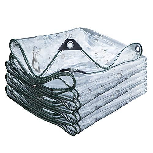 Yeeren Allzweckplane Transparent Wasserdicht Abdeckplane mit Ösen Verstärkt Schutzplane Regenplane für Terrasse Pflanzen Gartenmöbel Camping, Anpassen (Size : 1.5x2.9m)