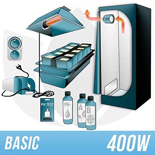 Kit Indoor Idroponica 400w + Grow Box - BASIC