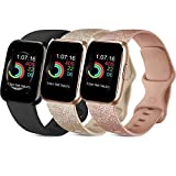 Usky 3 Pack Bands Compatible with for Apple Watch Band 38mm 40mm 42mm