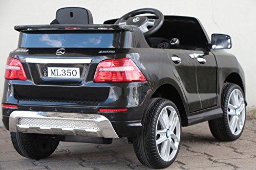 RC Auto kaufen Kinderauto Bild 4: Kinder Elektro Auto Mercedes Benz ML350 2x25W 12V Elektroauto Kinderfahrzeug Ferngesteuert Elektro ml 350 (Schwarz)*