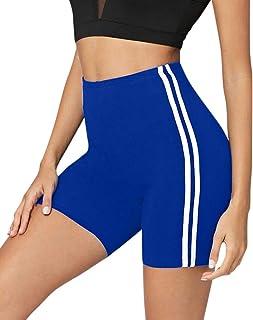 ebf80e84 Fannyfuny_Ropas Mujeres Pantalones Causales Deportivos Verano Pantalón de  Cintura Elástica Raya Cómodos Pantalones Cortos de Playa
