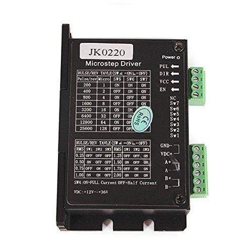 Wchaoen JK0220 Controlador de motor paso a paso híbrido de dos fases DC12V-36V 0.3A-2.0A for robots CNC Accesorios para herramientas