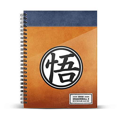 Dragon Ball Symbol-Cuaderno Papel Cuadriculado DIN A5