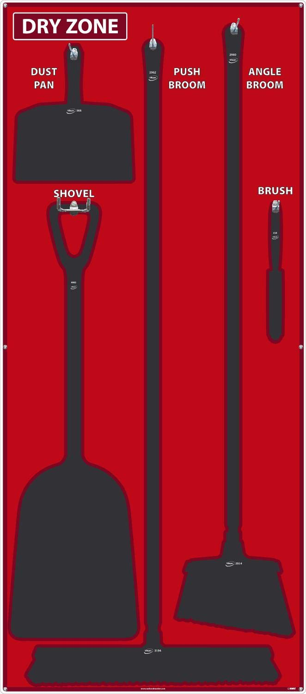store NMC SB128ACP Max 83% OFF 5S Dry Zone Janitorial Board B Shadow 68