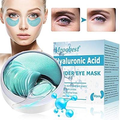 Under Eye Mask, Collagen Eye Mask, Eye Treatment Mask, Eye Masks, Hyaluronic Acid Moisturizing Eye Mask, Anti-wrinkle tightening, Removal of Reducing Dark Circles Puffiness Wrinkles - 60Pcs by Mroobest