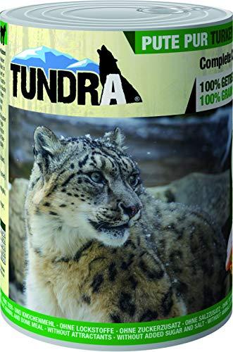 Tundra Katzenfutter Pute Pur, Nassfutter - Getreidefrei (6 x 400g)