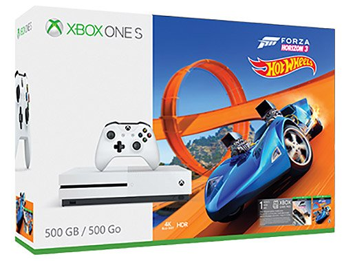 Microsoft Bundle Xbox One S 500GB + Forza Horizon 3 + DLC Hot Wheels Blanco Wifi - Videoconsolas (Xbox One S, Blanco, 8192 MB, DDR3, AMD Jaguar, AMD Radeon)