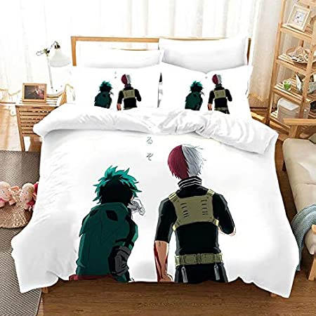 Yumhi My Hero Academia Bedding Sets Bed Boys Duvet Cover Without Comforter Twin MHA 4