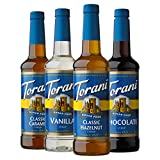Torani Sugar Free Syrup Variety Pack, 25.4 Ounces (Pack of 4)