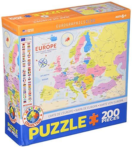 EuroGraphics- Map of Europe 200-Piece Puzzle Rompecabezas, Multicolor (6200-5374)