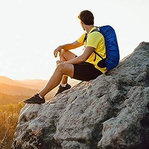 51FYaCxfbXL. SS300  - 4 Piezas Fundas Impermeables para Mochila, Protector Mochila Escolar Lluvia -(30-40L) Resistente y Duradero - A Prueba de Lluvia, Antipolvo, Antirrobo - Viajes Senderismo Camping Ciclismo Al Aire