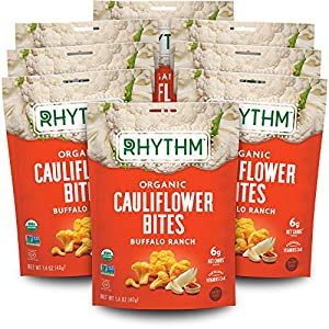 PERFECT ON-THE-GO SNACK: Don't let your busy day stop you from living a healthy, nutrient-rich lifestyle. Enjoy 8 convenient, snack size Cauliflower Bites packs to fuel your day! FIND YOUR RHYTHM: Bold heat and zingy ranch flavor, without a drop of d...