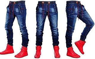 SZKMBファッションメンズジーンズ穴あきパッチワークパンツ男性の鉛筆ジーンズジッパーパンツ服