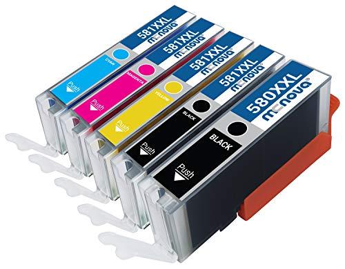MC NOVA Cartuchos de impresora compatibles 580XXL / 581XXL como repuesto para Canon PGI-580 CLI-581 | TR7550 TR8550 TS6150 TS6250 TS8250 TS8150 TS9550 TS6151 TS9155 TR8500 TS8251 TS705. .