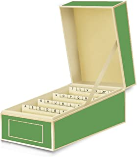 Semikolon Business Card File Box, Dividers A to Z, Lime Green (3230012)
