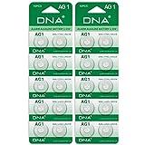 Dna Lot de 20 piles boutons de montre - Ag1 / Lr60 / 164/364 / Lr621 avec longue durée de vie (date d'expiration marquée)