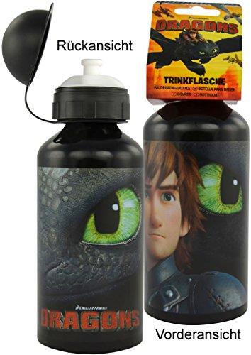 United Labels Dreamworks Dragons Trinkflasche, Schwarz, Ohnezahn (0120108)