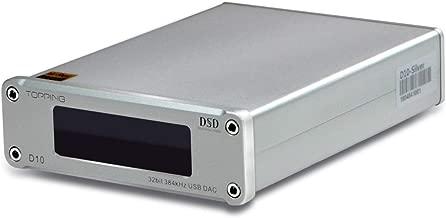Topping D10 Mini USB DAC CSS XMOS XU208 ES9018K2M OPA2134 Audio Amplifier Decoder (D10 Silver)