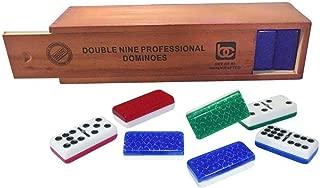 Bene Casa Jumbo Red Double Nine Domino Set in Wooden Box
