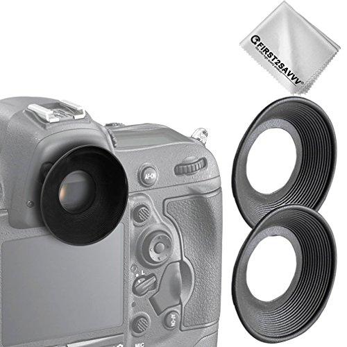 First2savvv 2 X DSLR Conchiglia Oculare Mirino Ottico per Nikon D610 D600 D300S D7200 D7100 D7000 D90 D300 D200 D80 D70 D70S D60 DSLR Camera DK-21 DK-23 + pezza per pulire - QJQ-OX-N-X2-01G11
