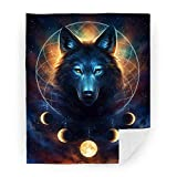 Hooome Thick Wolf Dream Catcher Blanket,Super Soft Full/King Size 60' x 80',Luxury Plush Fleece Blanket for Sofa Bed Office Gifts