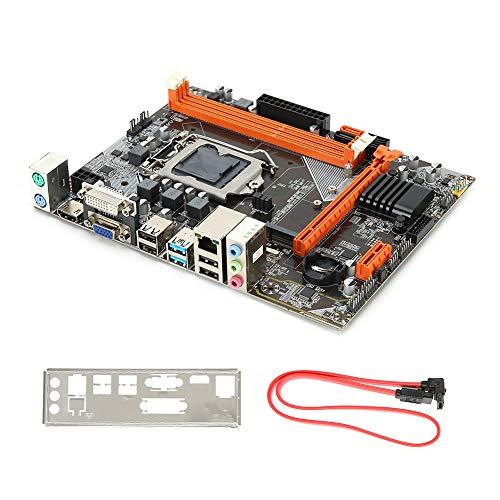 Placa Base de computadora, Placa Base de Escritorio Placa Base ATX con Tarjeta de Sonido de 6 Canales para Disco Duro de Alta Velocidad Intel B75 M.2 1155-Pin USB3.0 SATA3 DDR3