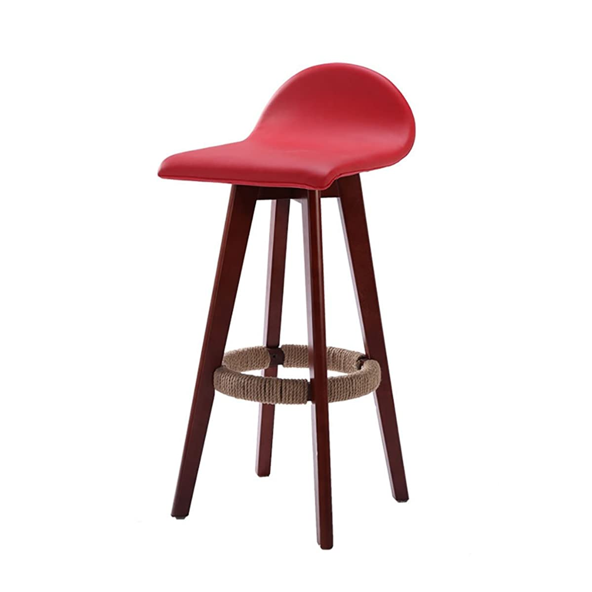 LHcy Four colors optional modern wood retro bar counter stools,Size: 88cm high Dining Chairs (Color : Red)