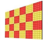 WOHAO Schallschutzschaum Acoustic 24 PCS Indoor Schall Cotton, Wand Recording Studio Filmraum Studio Sound Absorbing Sponge Acoustic Panels (Farbe: A) (Color : A)