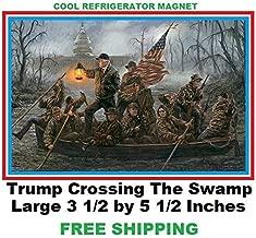466 Trump Crossing The Swamp Refrigerator Magnet