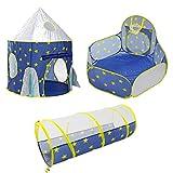 PBOHUZ Kids Play Tent-3 en 1 Plegable para niños, bebés y niños pequeños, Tienda de campaña emergente con túnel y casita para Piscina de Bolas