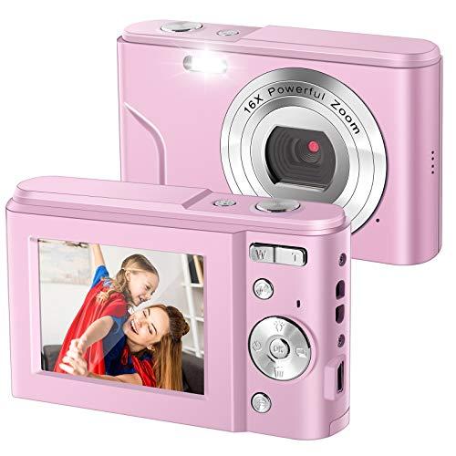 IEBRT Digital Camera,1080P Mini Vlogging Camera Video Camera LCD...