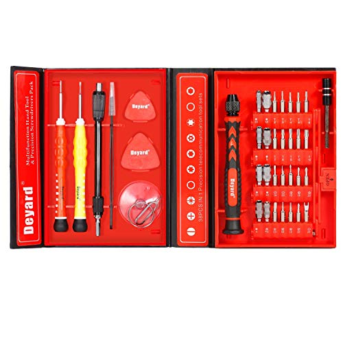 Deyard SG-455 Präzisions-Schraubendreher-Set - Repair Tools Kit zur Befestigung des iPhone-Notebooks MacBook Xbox-Uhrengläser mit Etui