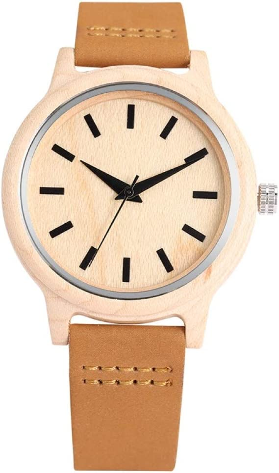 IOMLOP Wood Watch Manufacturer OFFicial shop Simple Bamboo No Women wi Ranking TOP7 Dial Word