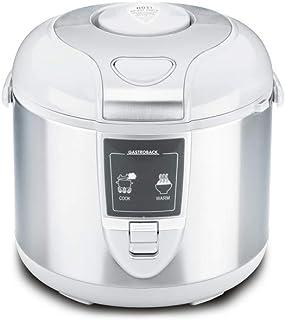 Gastroback 42507 Arrocera eléctrica, capacidad 3 litros, para cocer 5 tazas arroz, 700 W, Acero Inoxidable